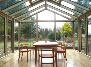 Contemporary Oak Gable Conservatory_sunrooms