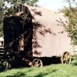 photograph: Somerset Rural Life Museum, Glastonbury. Accession No. TTNCM : 54/1987/1. A hut on display thought to have started life as a road worker's living van, then used as a shepherd's hut on the nearby Butleigh Estate. Image date 2009 © Somerset Heritage Service