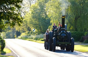 Approaching the inn in style, behind the Marshall traction engine 'Emily' © David Viner